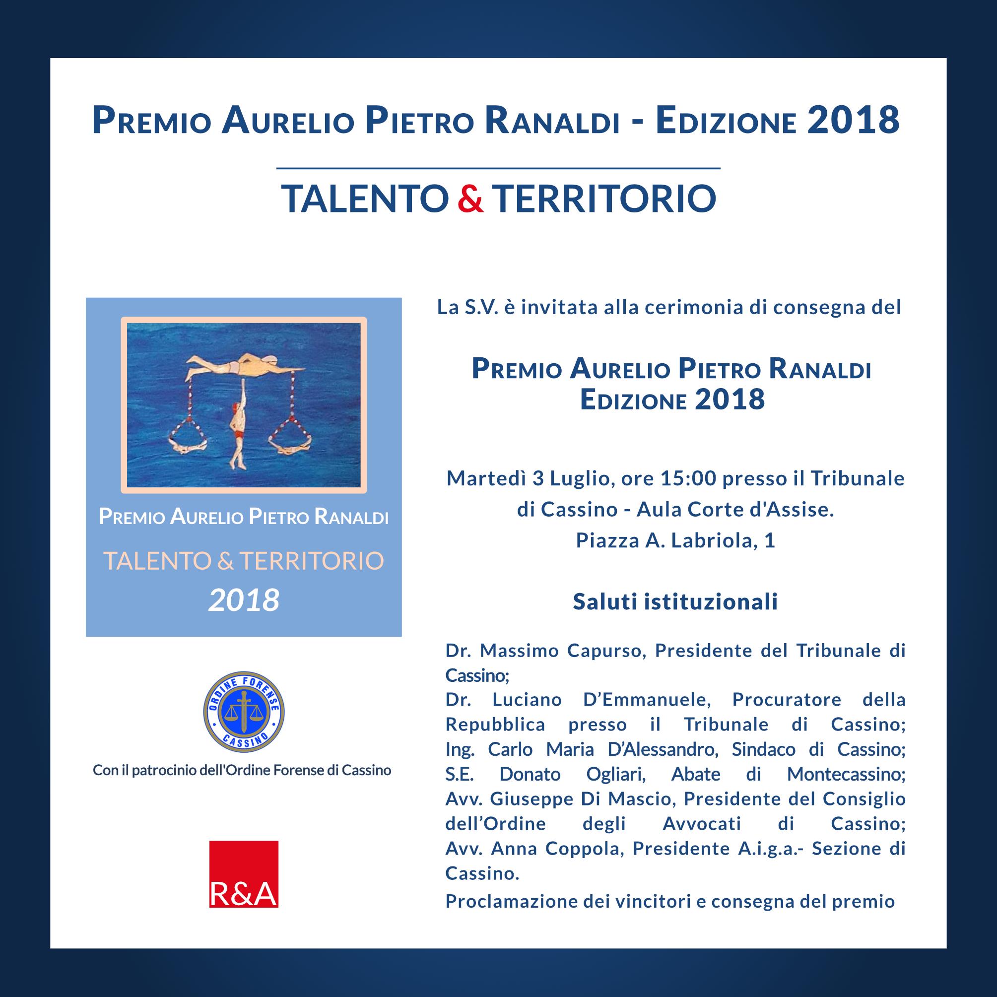 Premio Aurelio Pietro Ranaldi 2018